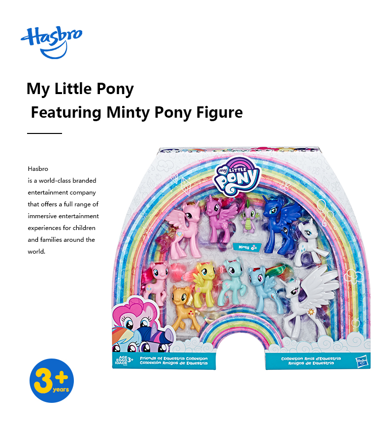 Hasbro My Little Pony Toy Rainbow Tail Surprise Collection Pack Friends of 11 3-inch pony characters collectible figure!
