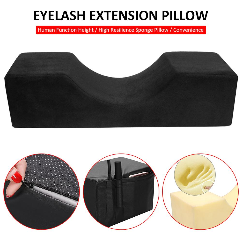 Eyelash Extension Pillow Professional Curve Memory Foam Pillow Neck Support Grafting Eyelash Cushion For Beauty Salon