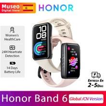 Honor – montre connectée Band 6, moniteur de fréquence cardiaque et d'oxygène SpO2, écran tactile AMOLED coloré de 1.47 pouces, pour la natation et le sport