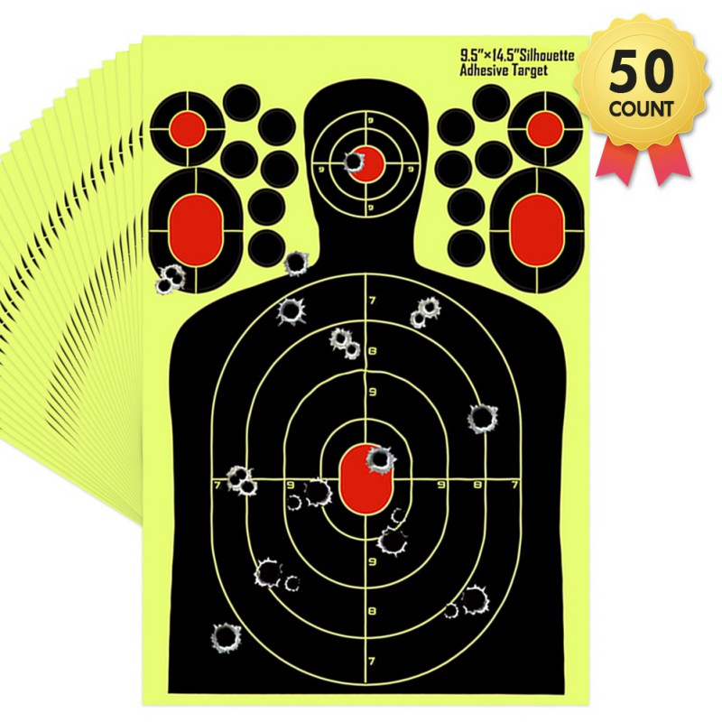 Self Adhesive Paper Realistic Fluorescence Targets For Professional Shooting Paster Sticker Paper Paintball Accessories