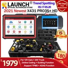 Lansmanı X431 PRO3S + HDIII 12V/24V araba kamyon tanı aracı otomatik obd obd2 kod okuyucu tam sistemi diagonostic tarayıcı X431 V PRO