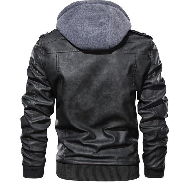 Marque Oblique Zipper moto cuir veste hommes 2019 automne hiver Streetwear Pu cuir manteau Eu taille S-XXXL Jaqueta Couro