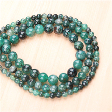 Natural Green Dragon Agate 4/6/8/10/12mm  Bead Round Bead Spacer Jewelry Bead Loose Beads For Jewelry Making DIY Bracelet