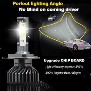 Image 2 - Otbqcn ミニ車のヘッドライト canbus H7 H4 led 3000 18k 4300 18k 6500 18k 8000 18k H1 H11 H8 9005 9006 H3 ヘッドランプ led 電球自動フォグランプ 12 v