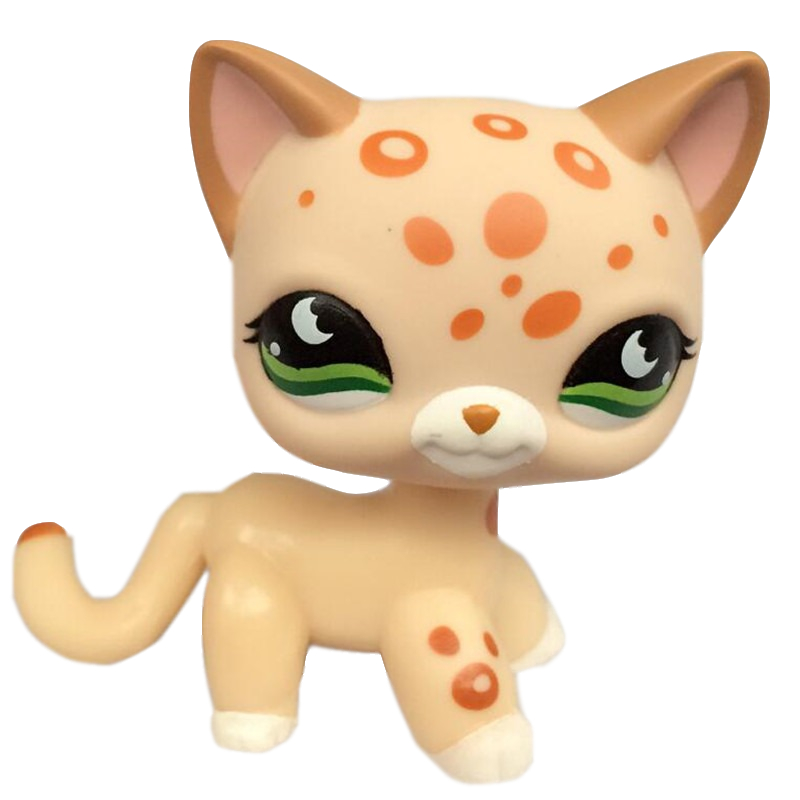 LPS Old Pet Shop Toys Standing Short Hair Cat Original Kitten Fox Puppy Dog Cute Animal For Girls Collection