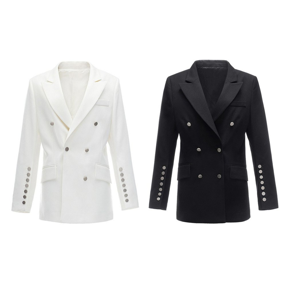 Autumn Korean Women's Suit Jacket Version Of The Self-cultivation Double-breasted Long Section Small Suit Fashion Women's Jacket
