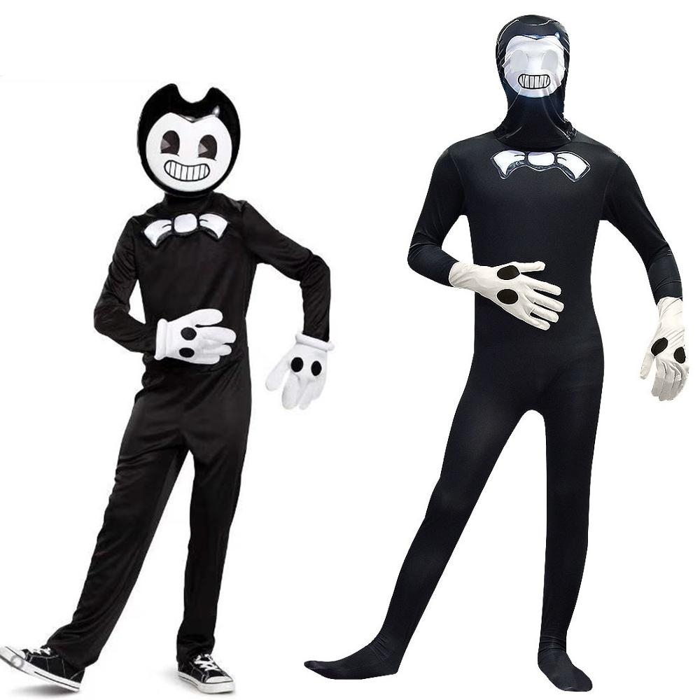 Bendy And The Ink Machine Kids Halloween Cosplay Costumes Teen Boys Clothing Sets Fashion For Party Jumpsuit Children Onesies