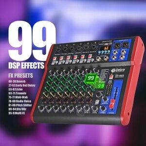 Image 2 - Debra Pro 8 canal DJ regulada con 99DSP Efecto Reverb Bluetooth 5,0 USB de karaoke USB para PC micrófono grabación condensador