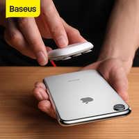 Baseus aranha ventosa carregador sem fio para iphone xr xs max portátil rápido sem fio almofada de carregamento para samsung nota 10 9 s9 + s8