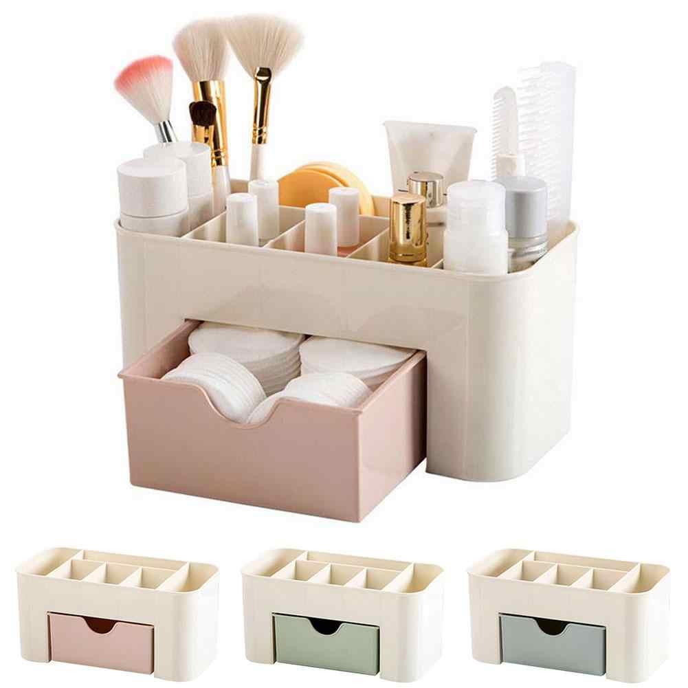 เครื่องสำอางค์พลาสติกกล่องลิ้นชักลิ้นชักลิ้นชัก Makeup Organizer เครื่องประดับ Rangement อาหารบ้านลิ้นชักเก็บ