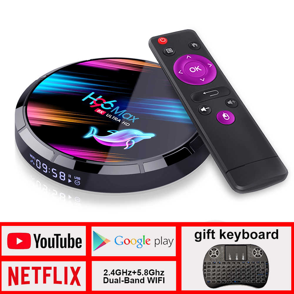 TV Box H96 max Android TV Box Netflix Youtube HD 8K LEMADO TV Box Android 9.0 Google Assistente Vocale h96 max X3 Smart Tv Box