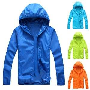 Women Men Outdoor Long Sleeve Hooded Windproof Sun Protection Coat Fishing Jacket