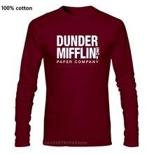 Dunder Mifflin kağıt a. Ş T-shirt, ofis T-shirt, TV gösterisi T shirt yeni 2017 moda yaz erkekler uzun kollu orijinal