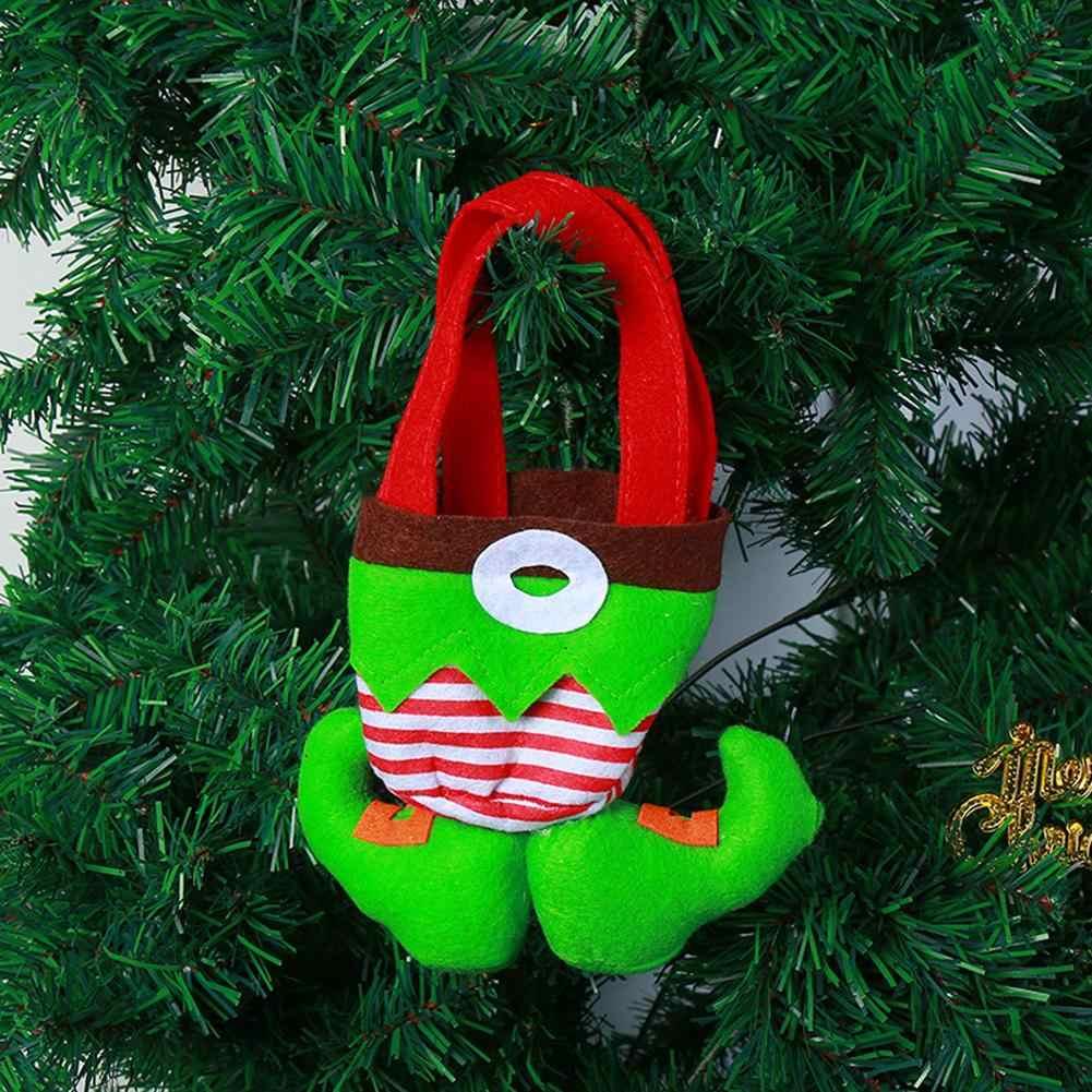 Boże narodzenie Clown Elf duch przewodnik spodnie cukierki torba na prezent Xmas drzewa wiszące wisiorek jako dekor w kształcie drzewa, torba na prezent, clown i Elf spodnie