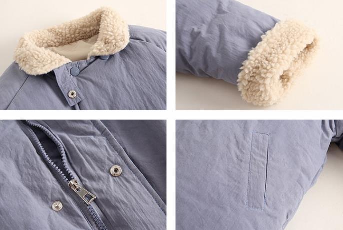 Crianças quentes e engrossados casaco de algodão