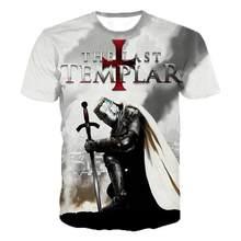 2021, Casual Fashion Trend Street Fun 3D-Printed Men'S Shirts Comic Templar T-Shirts,
