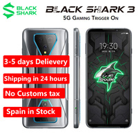 Spain Warehouse EU Version Xiaomi Black Shark 3 5G Gaming phone 6.67 8GB 128GB Snapdragon 865 64MP Android Dual SIM Cell Phone