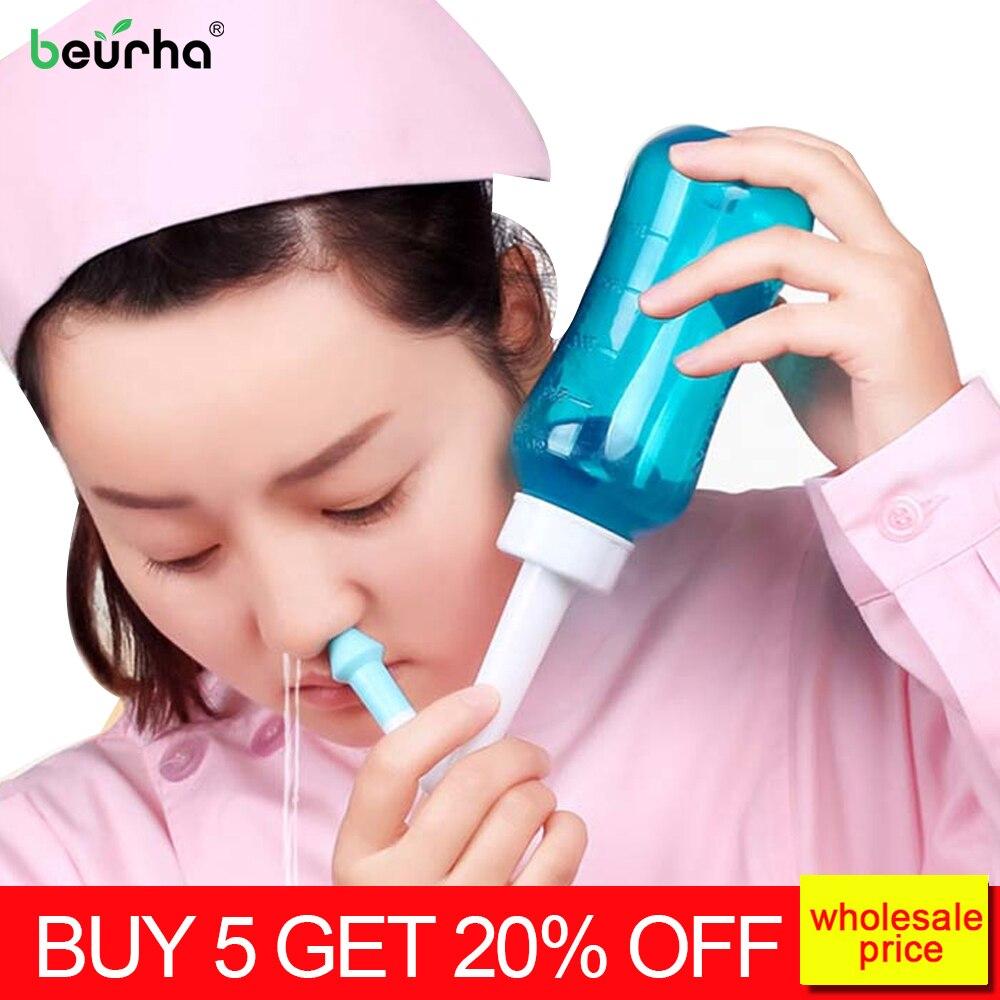Очиститель носа Beurha для промывания носа, очищение носовой полости, чувствительность при синусите, забота о здоровье, устранение аллергического ринита, нети пот 300 мл|Прибор для очистки носа|   | АлиЭкспресс