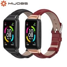 Prawdziwy skórzany pasek dla Huawei Honor Band 6 inteligentny zegarek bransoletka dla Honor 6 opaska wymiana pasek dla Huawei Band 6