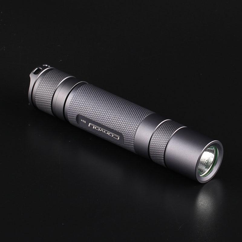 Конвой серый XML2 1067lm 2 группы 3/5 режимов 18650 EDC вспышки светильник самозащиты мини тактический фонарь велосипеда светильник Фонари