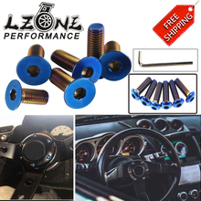 FREE SHIPPING - 6PC/LOTS Burnt Titanium Steering Wheel Bolts Fit a lot of steering wheel Works Round Boss Kit JR-LS06CR-R/T