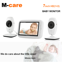 720P HD 7 Wireless Baby Monitor With Two Digital Camera IR Night Vision Intercom Nanny Video Baby Monitor Supports Screen Split wireless monitor night vision digital video baby monitor audio music camera temperature nanny monitor free shipping