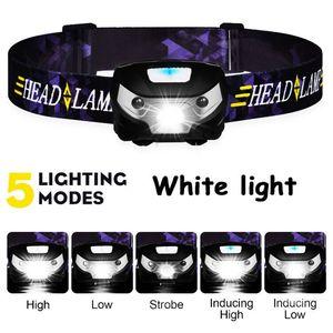 Image 4 - ZK20 LEDไฟหน้าMini USB Rechargeable Sensorไฟหน้ารถจักรยานยนต์CampingแบบพกพาไฟฉายEDC