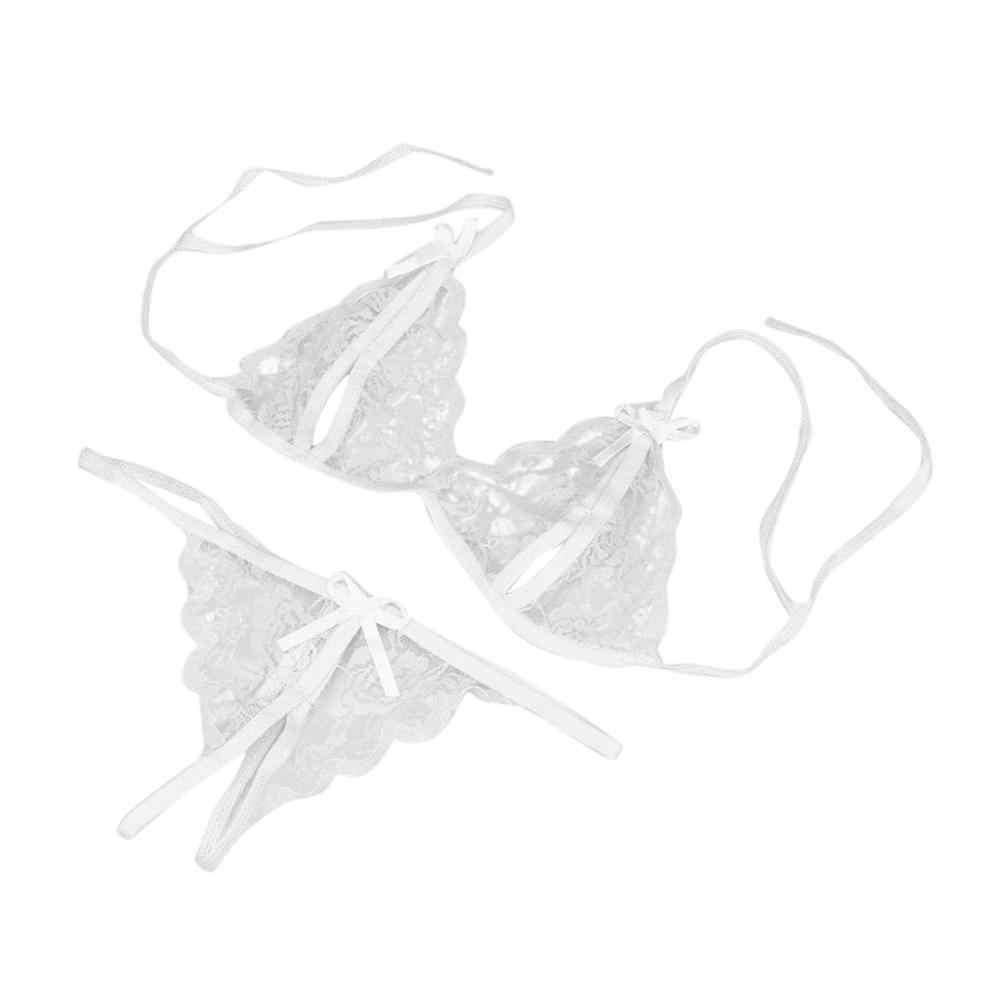 Lingerie Sexy Insieme Del Reggiseno Delle Donne Sexy Del Merletto Della Biancheria di Natale Set Più Il Formato Del Reggiseno Perizoma Cava Biancheria Intima Breve Set di biancheria intima set 12