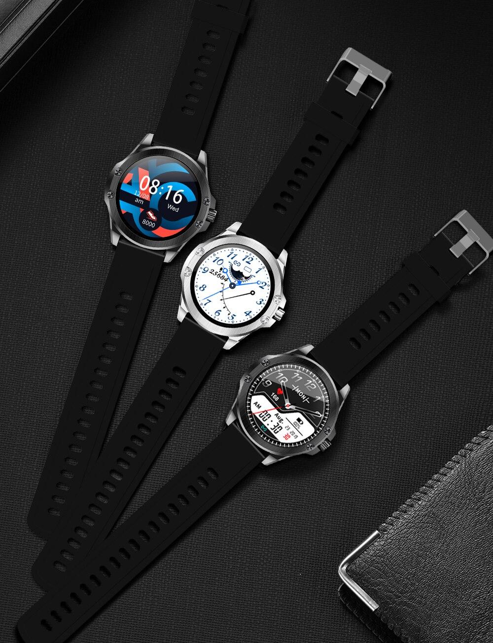 H8ef5474bd23c4bb2b6bc0062a8f209c2t CYUC S11 Smart watch men HD Full round Screen IP68 Waterproof