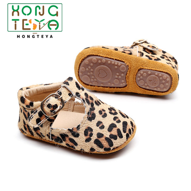 2020 Toddler Girl Baby Moccasins Leopard Print Baby Girl First Walker Infant Newborn Boy Hard Sole Anti-slip Prewalkers Shoes