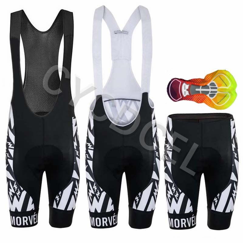 MORVELO 2020 Fietsen Slabbetjes Shorts Mountainbike Ademende mannen Bike 16D Gel Padded Panty Triathlon Man Pro Licra Fiets broek