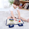 Baby Busy Board Books Early Learning Education Story Book Montessori Toy For Toddlers Develop Basic Skills Hands on ability