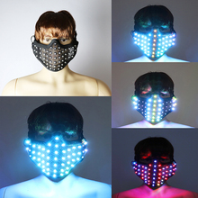 New Fashion LED Mask Colorful Luminous Mask Flashing Light Face Guard Halloween Bar Birthday Stage Party Show Glowing Props