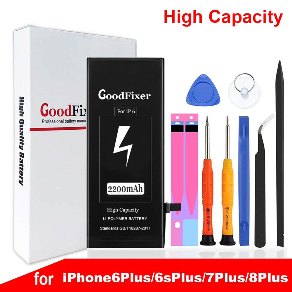 3350mAh IPhone 6 Plus 7 Plus 8 Plus Battery, Repair Tools Kit, New 0 Cycle Li-ion Replacement Battery For Iphone 6 7 8 Plus