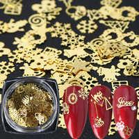 1 scatola di 3D Colorato Semitrasparente Glitter per unghie Fiocchi di Super Sottile Della Miscela Lustrini Sirena Con Paillettes sulle Unghie Decorazione Della Polvere Della Polvere LECX01-12