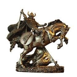 Древний Римский гладиатор скульптура среднего возраста персонаж статуя смолы рабочего Стола Воин-Викинг фигурки домашнего офиса украшени...