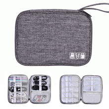 Cable Organiser Bag, Travel Electronics Accessories Bag Organiser for Cables, Flash disk, USB drive, Charger, Power Bank,