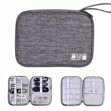 Sac organisateur de câble, accessoires électroniques de voyage organisateur de sac pour câbles, disque Flash, lecteur USB, chargeur, batterie externe,