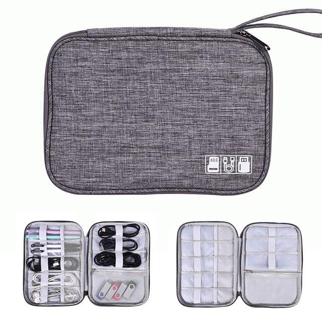 ケーブルオーガナイザーバッグ、旅行エレクトロニクスアクセサリーバッグ主催のためのケーブル、フラッシュディスク、 usb ドライブ、充電器、電源銀行、