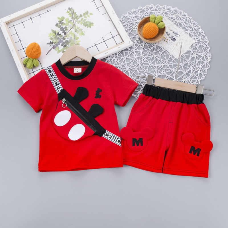 Costume de sport pour bébés   Vêtements d'été, à la mode pour enfants garçons filles, t-shirt short de dessin animé, 2 pièces/ensemble vêtements de sport pour tout-petits, nouvelle collection