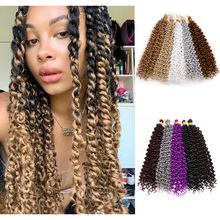 Synthetic Water Wave Twist Braiding Hair Afro Kinky Curl Crochet Braids Hair Extensions For Black Women Curly Wave Hair