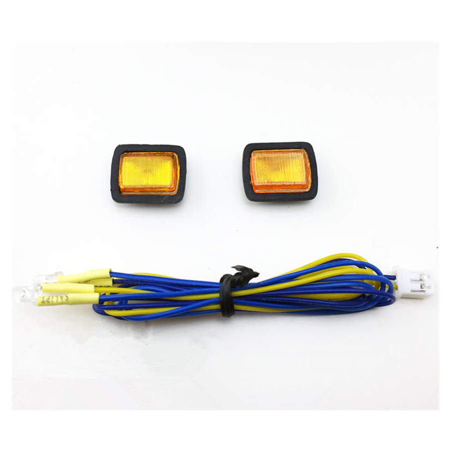 Rc <font><b>Body</b></font> Shell Front Turn Signal LED Lights Set For <font><b>1/10</b></font> <font><b>Scale</b></font> RC Toys Car JEEP WRANGLER YJ Remote Control Toy <font><b>Crawler</b></font> Car Parts image