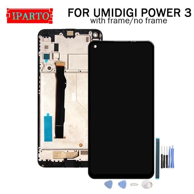 6.53 Inch Umidigi Power 3 Lcd scherm + Touch Screen Digitizer Vergadering 100% Originele Nieuwe Lcd + Touch Digitizer Voor power 3 + Gereedschap