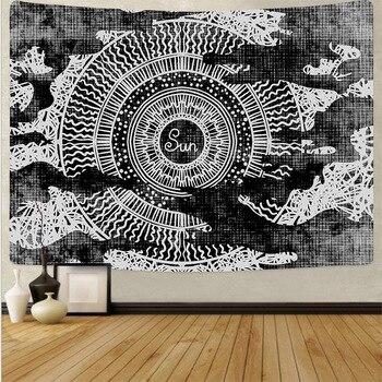 Tapiz de pared con diseño de mandala, tapiz de pared grande con...