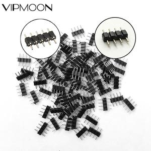 10-100PCS 4 Pin 5Pin Needle RGB RGBW Connector Adapter Male Double Insert For RGB RGBW 5050 3528 2835 LED Strip Light New