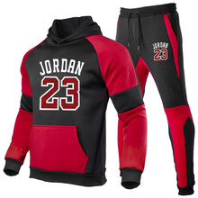 Brand Clothing Men's Fashion Tracksuit Casual Sportsuit Men Hoodies Sweatshirts Sportswear JORDAN 23 Coat+Pant Men Set Sweatshir
