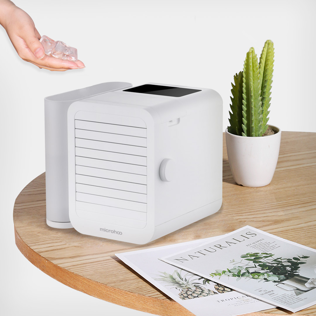 MICROHOO 6W 1000ml Water Capacity Mini Air Conditioner Touch Screen 99 speed Adjustment Energy Saving Timing Cooling Fan|Air Conditioners| |  - title=