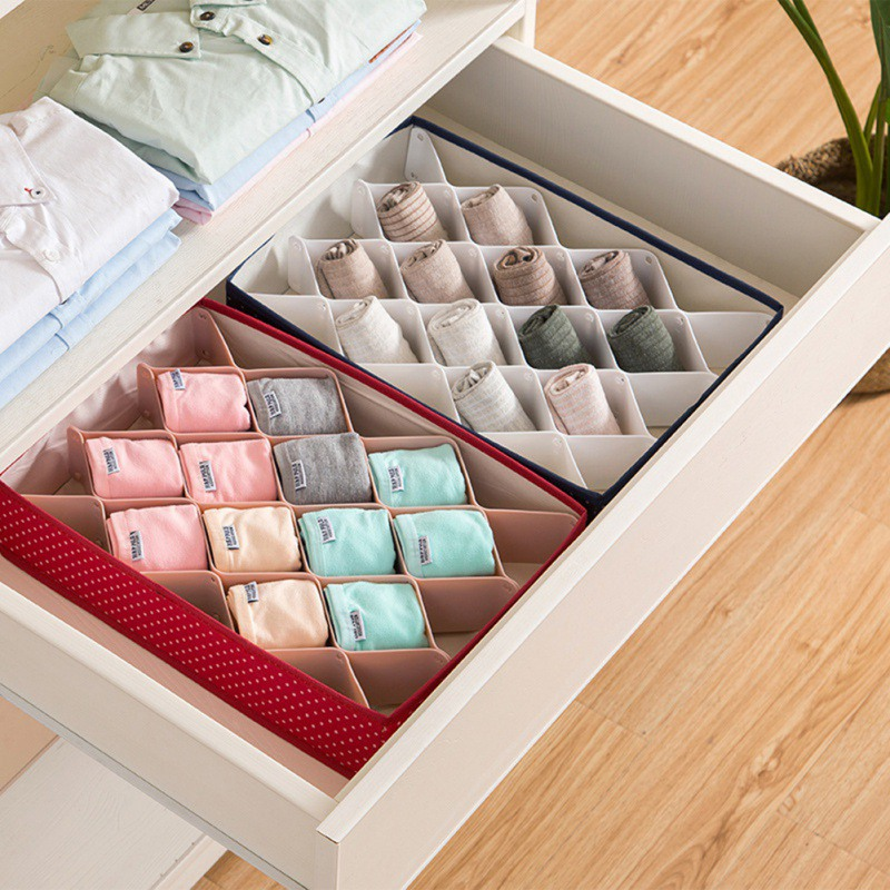 8Pcs Home Drawer Divider DIY Plastic Diamond Storage Grids Free Combination Wardrobe Finishing Divider For Underwear Socks|Drawer Organizers| |  - title=