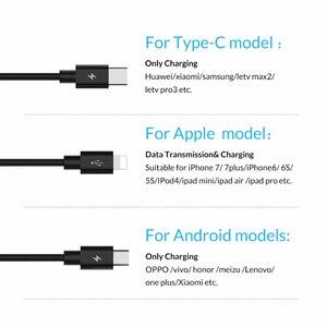 Image 3 - ORICO 3 en 1 Type C 8Pin Micro câble USB pour iPhone 8X7 6 6S Plus iOS 10 9 8 Samsung Nokia USB câbles de charge rapide cordon