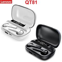 Original Lenovo QT81 TWS Drahtlose Kopfhörer Stereo Sport Wasserdichte Ohrhörer Headsets mit Mikrofon Bluetooth Kopfhörer HD
